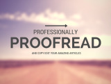proofread and edit any article or text document