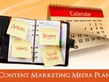create an 8 week content marketing media schedule