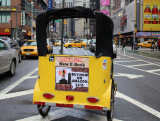 advertise your Business on a pedicab in Times Square NYC ny