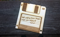 laser cut a floppy disk with your message