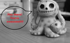 send a friendly octopus with a custom speech bubble