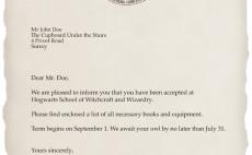 design a personalized Harry Potter Hogwarts Acceptance Letter