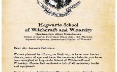 create a custom digital Hogwarts Acceptance Letter