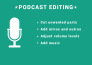 edit audio for podcast