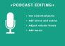 edición de audio para podcasts