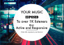 promote 3 songs to a music community of 1,000 active people