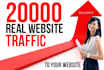 increase your Website Real Traffic by 20K from twitter or social media network