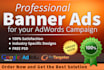 create PROFESSIONAL banner ads for google adwords