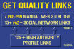 make High PR Pyramid Manually at Top Tier with 2 Tier Links and Social Activity