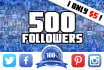 send 500 followers on the social network you choose