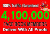 promote your link on 4,100,000 real members