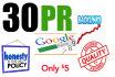 manually do 30 pr9,8,7 high Pr Backlinks 2015 Best Results