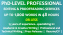 proofread or edit 1,000 words in 48 hours or less