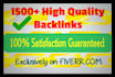 create 1500 Google Loving SEO Backlinks