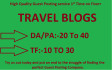 do Guest Post On My Quality Travel Blogs