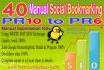 do Manual Social Bookmarking From 40 PR10 to PR6 High Authority Sites