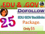give you 25 edu and gov dofollow live backlinks