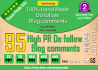 build blog comments Manually on 95 PR3 To PR7 links