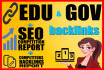 create 12 high pr Gov and Edu backlinks from US and World Goverment Sites
