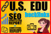 create 11 EDU backlinks from united states and International universities