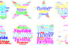create beautiful custom design wordcloud for Twitter Background or blog in 24hrs