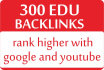 add 300 edu backlinks