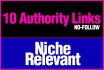 do 10 High Authority niche relevant blog comments manually