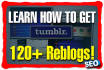 show you how to get over 120 viral reblogs on Tumblr for SEO