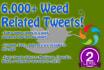 6,000 plus marijuana weed cannabis twitter tweets list
