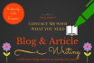 write blog content or articles