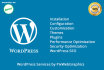 install and Configure WordPress with Theme