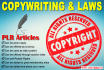 send You 80 over Quality PLR Articles on Copywriting and Law