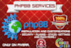 install phpBB and customize it professionally