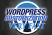 customize any single WordPress task