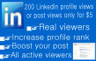 200 LinkedIn profile, post or article views only