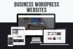 develop a business website with WordPress
