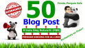add 50 Blog Post on My Private Blog Network in 24 Hours