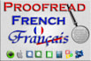 professionally proofread 1000 Words French Text