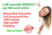 manually REWRITE your 500 word article
