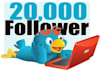 guarante 20500+ TWITTER followers no need Password
