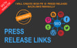 create 10 high pr5 to pr9  press release backlinks manually