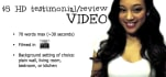 make a natural and genuine testimonial/review video in HD