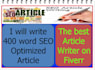 write 400 word SEO Optimized Article