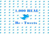 make 1,000 retweets+favourits of any tweet by 1,000 different REAL Twitter accounts