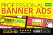 create a professional banner, header, ad or cover