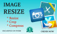 resize and compress your 50 images