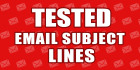 write 5 email subject lines and filter test to 350 mail servers