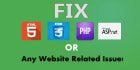 fix css html php related errors