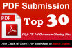 manually Submit Article in Top 30 doc and PDF Sites High pr