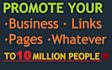 promocionar su mensaje y link a más de 10 Millones de personas